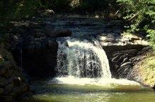 The waterfall at Sweet Arrow Lake Park